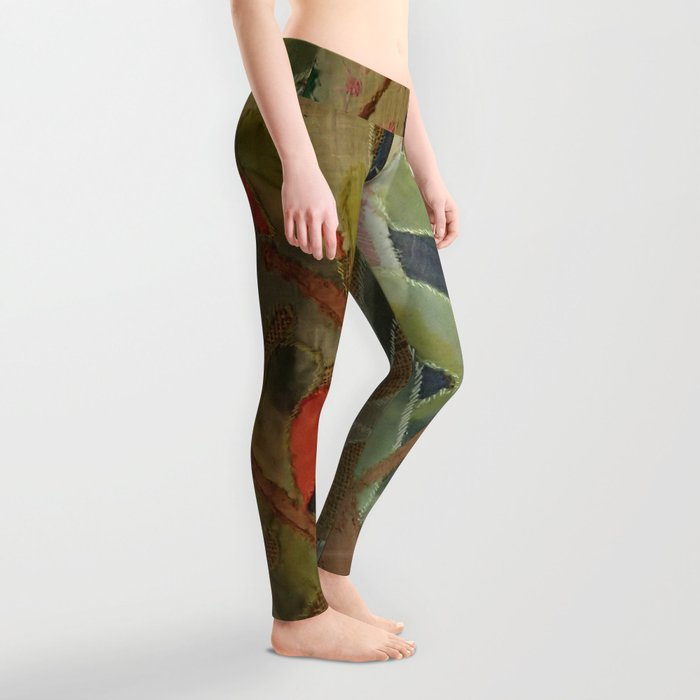 Exotic abstract patterns of nature Leggings
