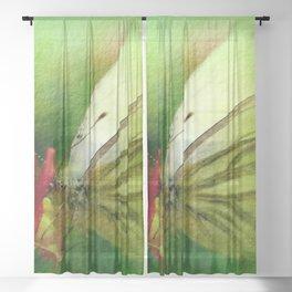 Butterfly's inn version 2 Sheer Curtain