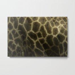 Pattern of a Giraffee Metal Print