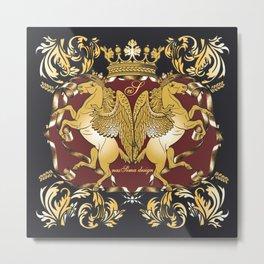 Royal Horses Bordeaux  Metal Print