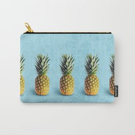 Pineapples on blue background Carry-All Pouch