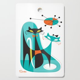 Mod Mix Up Mid Century Modern Cat Art by Art of Scooter Cutting Board