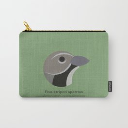 Five-striped sparrow Carry-All Pouch