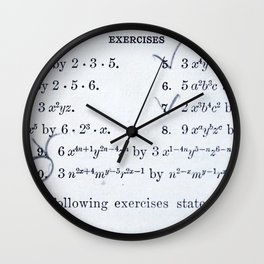Math Exercizes with Notes Wall Clock