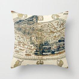 World Map 1482 Throw Pillow