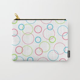 Geometric Design Circle Shapes Pink Blue Green Carry-All Pouch