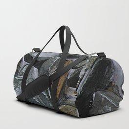 rocks in the rain Duffle Bag