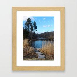 Pond and Dock Framed Art Print
