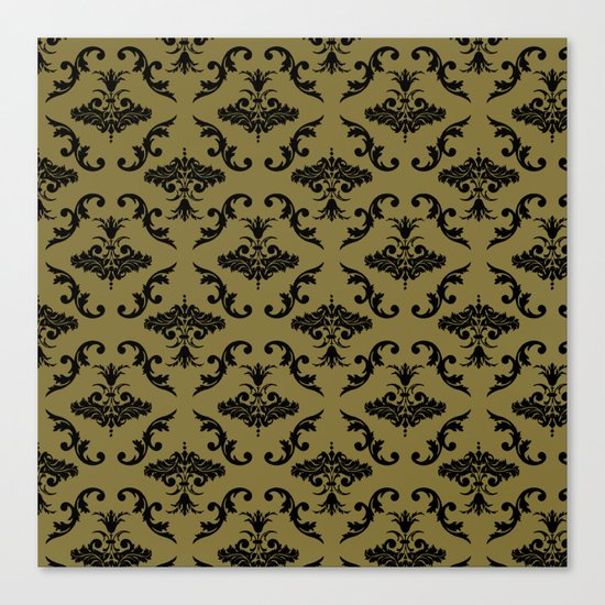 Gold Damask Canvas Print