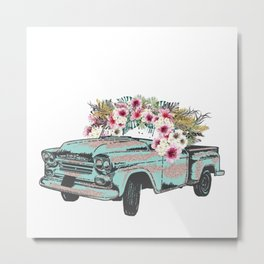 Flower Crown Vic Metal Print