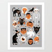 halloween Art Prints featuring Halloween by Greg Abbott