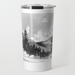 aquarell mountains Travel Mug