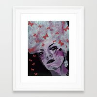 marie antoinette Framed Art Prints featuring Antoinette by Clare Chapman