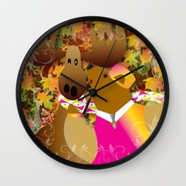 For Thanks and Giving Wall Clock
