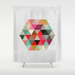 Geo Hex 03. Shower Curtain