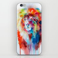 lion iPhone & iPod Skins featuring Lion by Slaveika Aladjova