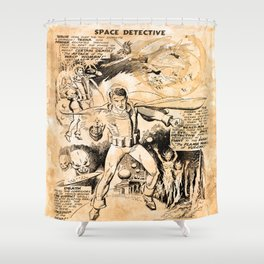BEFORE STARLORD - SPACE DETECTIVE Shower Curtain