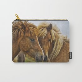 Two horses portrait  Carry-All Pouch