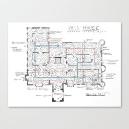 Haunting of Hill House Blueprint Canvas Print