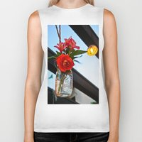 outdoor Biker Tanks featuring Outdoor Decor by Kim Ramage
