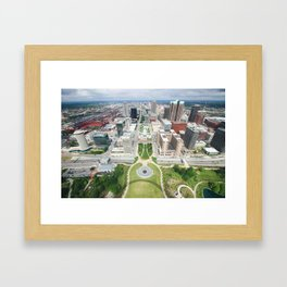 View from the Gateway Arch Framed Art Print