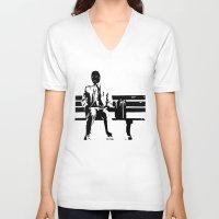 forrest gump V-neck T-shirts featuring Forrest Gimp by Jon Spagnola