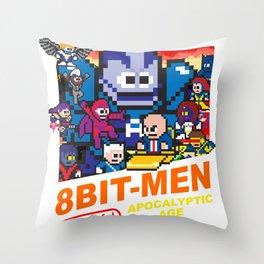 8bit-Men Apocalyptic Age Throw Pillow