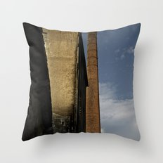 Old textile factory Throw Pillow