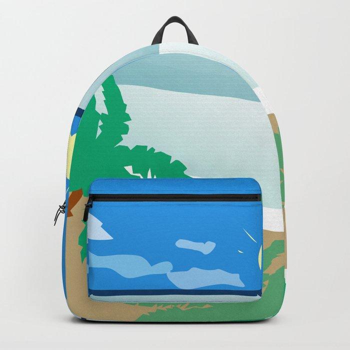 Tropical beach Backpack