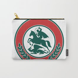 Saint George Slaying Dragon Circle Retro Carry-All Pouch