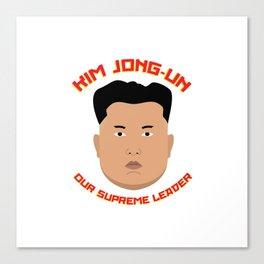 Kim Jong-Un Canvas Print
