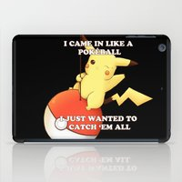 pokeball iPad Cases featuring Pokeball by Mie Kristensen
