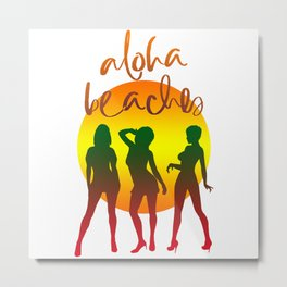 Aloha beaches Metal Print