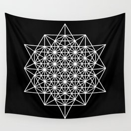 White star tetrahedron Wall Tapestry