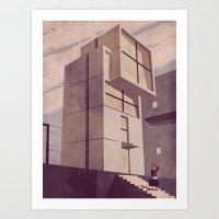 kobe Art Prints featuring House in Kobe by Giordano Poloni