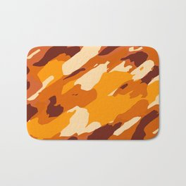 brown yellow and dark brown painting abstract background Bath Mat