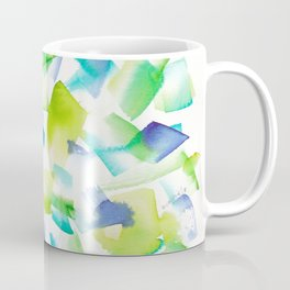 180719 Koh-I-Noor Watercolour Abstract 40| Watercolor Brush Strokes Coffee Mug