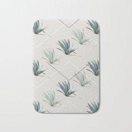 Succulents with Chevrons Bath Mat