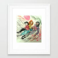 superwholock Framed Art Prints featuring Death and All Her Resting Lovers by Christine Eglantine