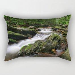 Rushing By Rectangular Pillow
