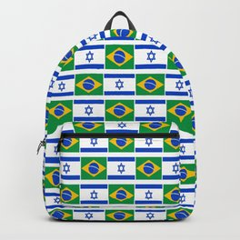 Mix of flag: Israel and brazil Backpack