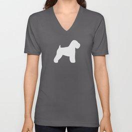 Soft Coated Wheaten Terrier Silhouette Unisex V-Neck