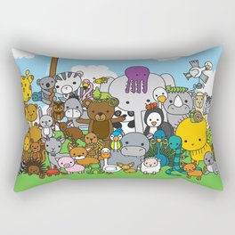 Zoe animals Rectangular Pillow