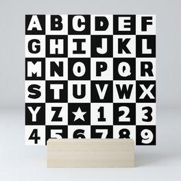 Alphabet Black and White Mini Art Print