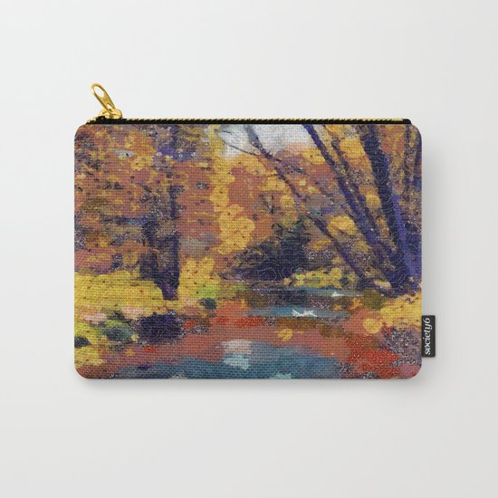 Autumn pond in the park Carry-All Pouch