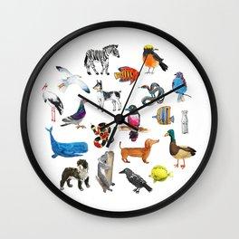 Little zoo Wall Clock