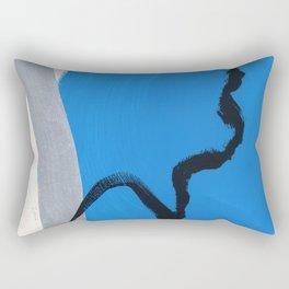 Trust Your Color no.34 - blue minimalist art light grey silver brushstroke Rectangular Pillow