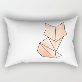 Geometric Fox - Orange Rectangular Pillow