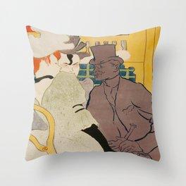 Vintage poster - Englishman at the Club Throw Pillow