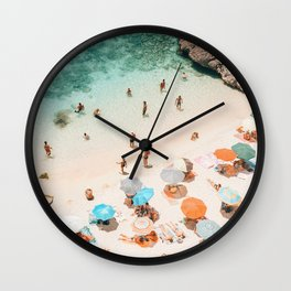 Puglia Beach Wall Clock